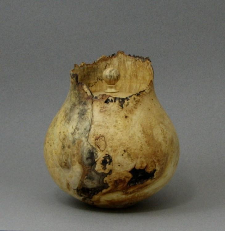Box Elder Burl jar 1